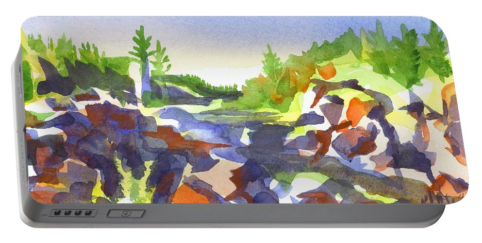 Johnsons Shut Ins Portable Battery Charger featuring the painting Johnsons Shut Ins by Kip DeVore