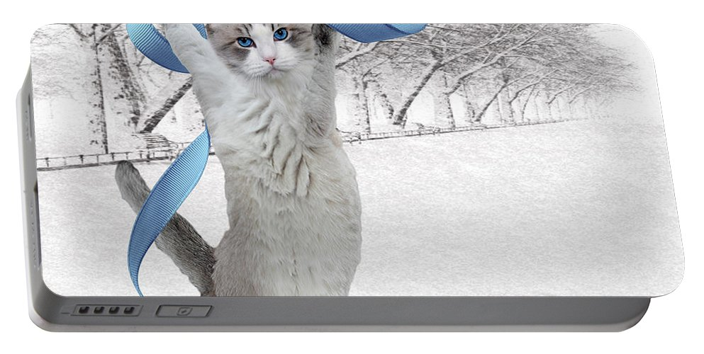 Fine Art Portable Battery Charger featuring the digital art Jolly by Torie Tiffany