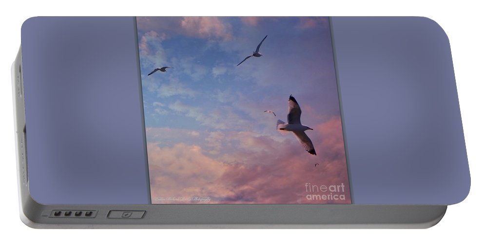 Jonathan Livingston Seagull Portable Battery Charger featuring the photograph Jonathan Fly Free by Bobbee Rickard
