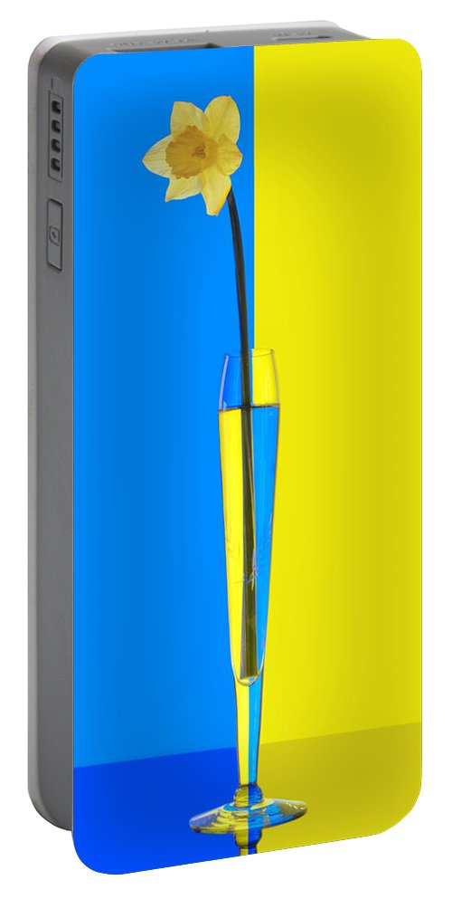 Daffodil Portable Battery Charger featuring the photograph Jonquille by Nikolyn McDonald