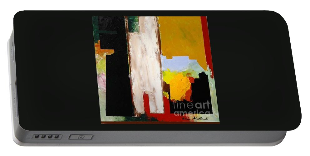Landscape Portable Battery Charger featuring the painting Jordan Park 511 by Allan P Friedlander