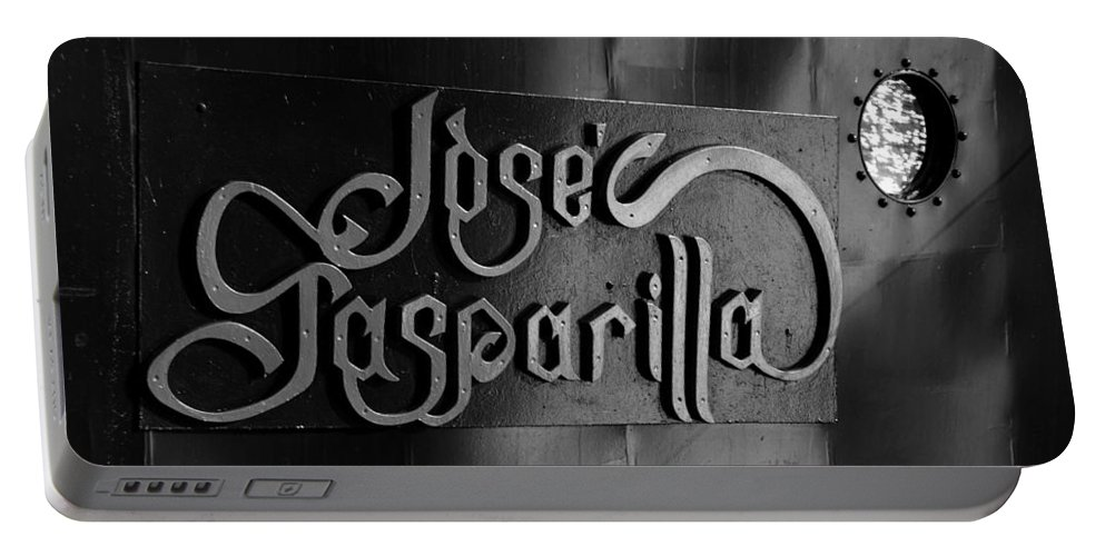 Name Plate Portable Battery Charger featuring the photograph Jose Gasparilla Name Plate by David Lee Thompson