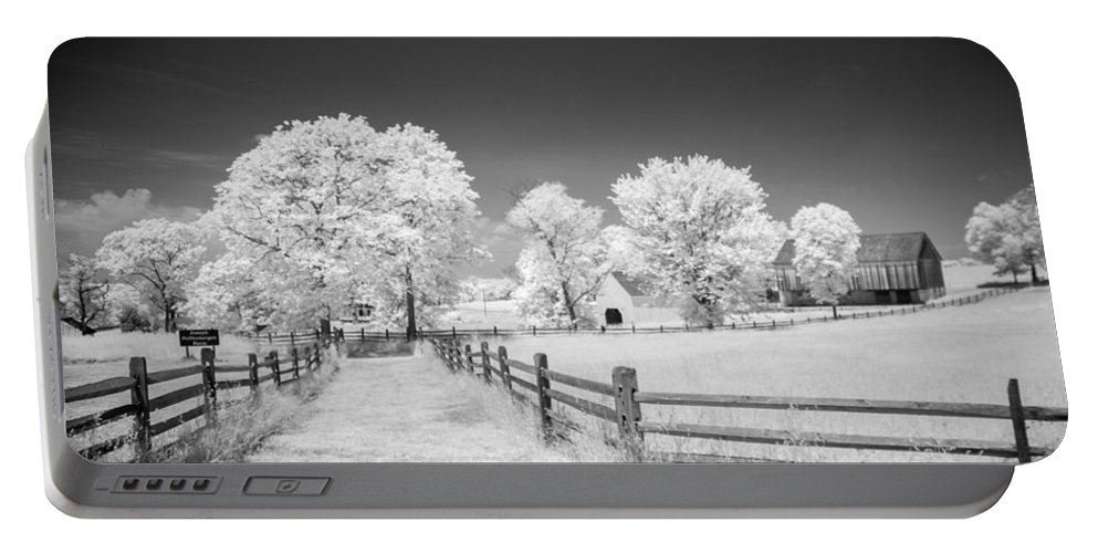 American Civil War Portable Battery Charger featuring the photograph Joseph Poffenberger Farm 8d00231 by Guy Whiteley
