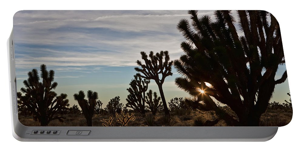 Beige Portable Battery Charger featuring the photograph Joshua Trees by Evie Carrier