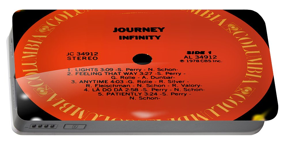 Record Portable Battery Charger featuring the photograph Journey - Infinity Side 1 by Marcello Cicchini
