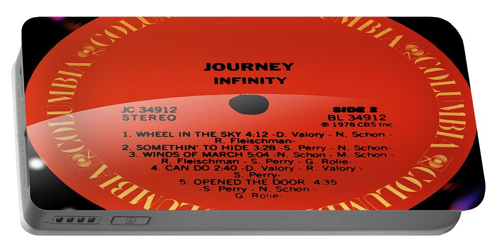 Record Portable Battery Charger featuring the photograph Journey - Infinity Side 2 by Marcello Cicchini