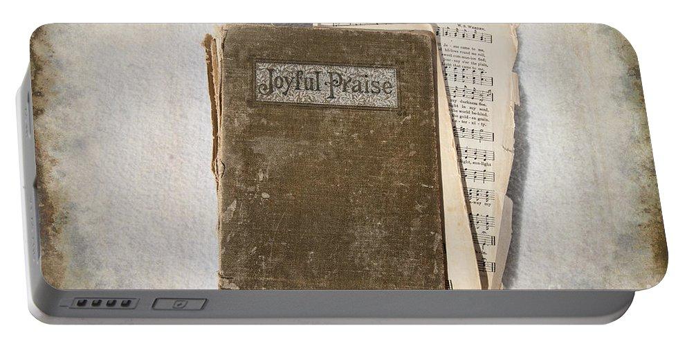 Hymnal Portable Battery Charger featuring the photograph Joyful Praise by David Arment