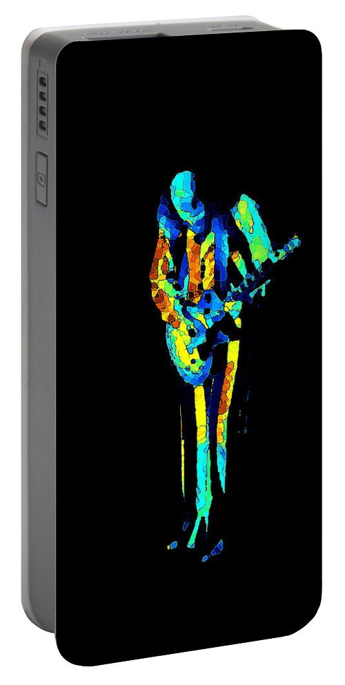 Martin Barre Portable Battery Charger featuring the photograph Jt #67 In Cosmicolors by Ben Upham