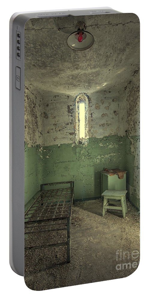 Penitentiary Portable Battery Charger featuring the photograph Judgementality by Evelina Kremsdorf