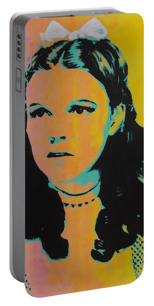 Judy Garland Portable Battery Charger featuring the painting Judy Garland by Gary Hogben