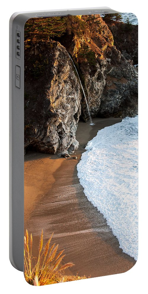 Big Sur Portable Battery Charger featuring the photograph Julia Pfeiffer Burns by Wim Slootweg