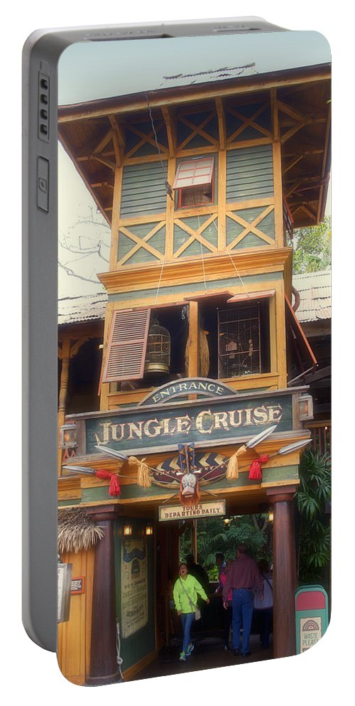 Disney Portable Battery Charger featuring the photograph Jungle Cruise Adventureland Disneyland by Thomas Woolworth