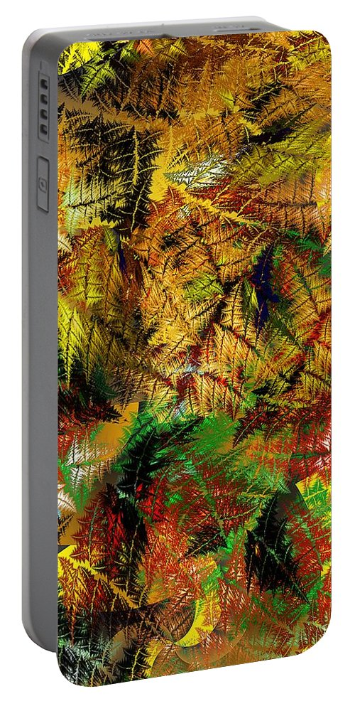 Fine Art Portable Battery Charger featuring the digital art Jungle by David Lane