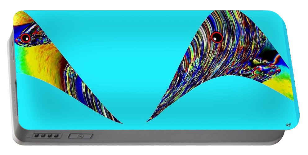 Jungle Twitter Portable Battery Charger featuring the digital art Jungle Twitter by Will Borden