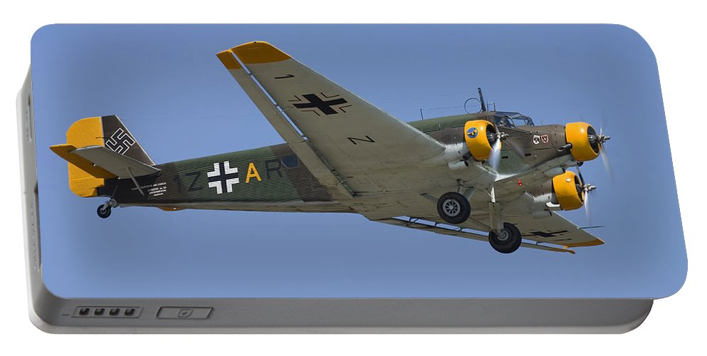 3scape Portable Battery Charger featuring the photograph Junkers Ju-52 by Adam Romanowicz