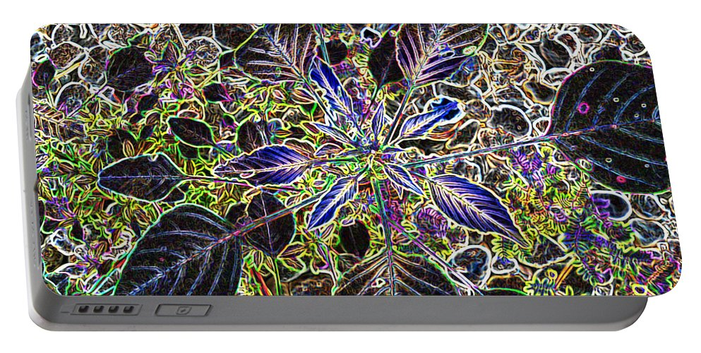 Weed Portable Battery Charger featuring the digital art Just A Weed by Lovina Wright