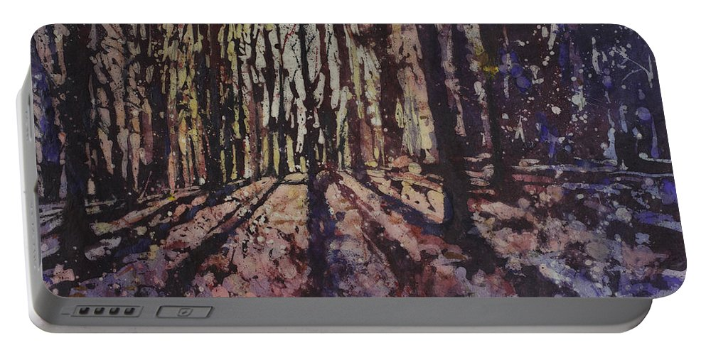 Batik Portable Battery Charger featuring the painting Just Out Of Reach by Ryan Fox