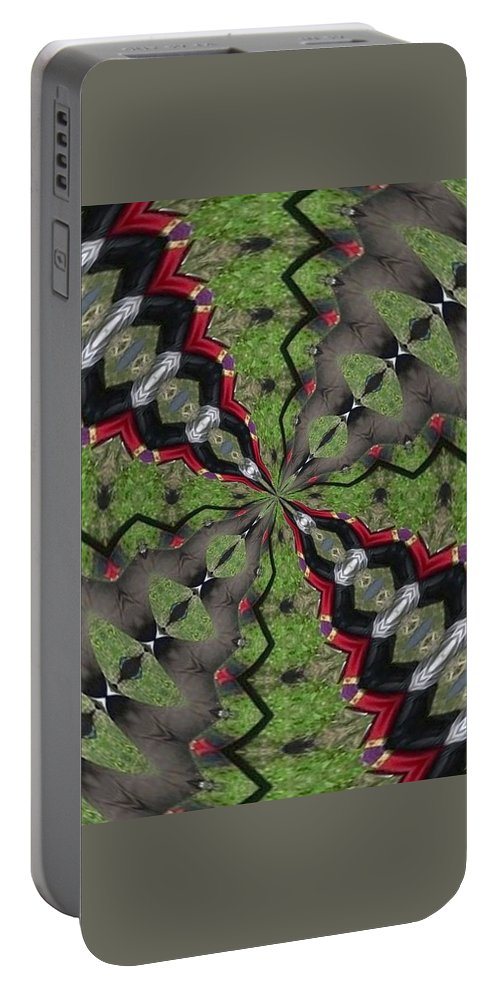 Kaleidoscope Portable Battery Charger featuring the photograph K2 by Mechala Matthews
