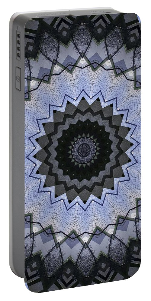 Kaleidoscope Portable Battery Charger featuring the photograph K5 by Mechala Matthews