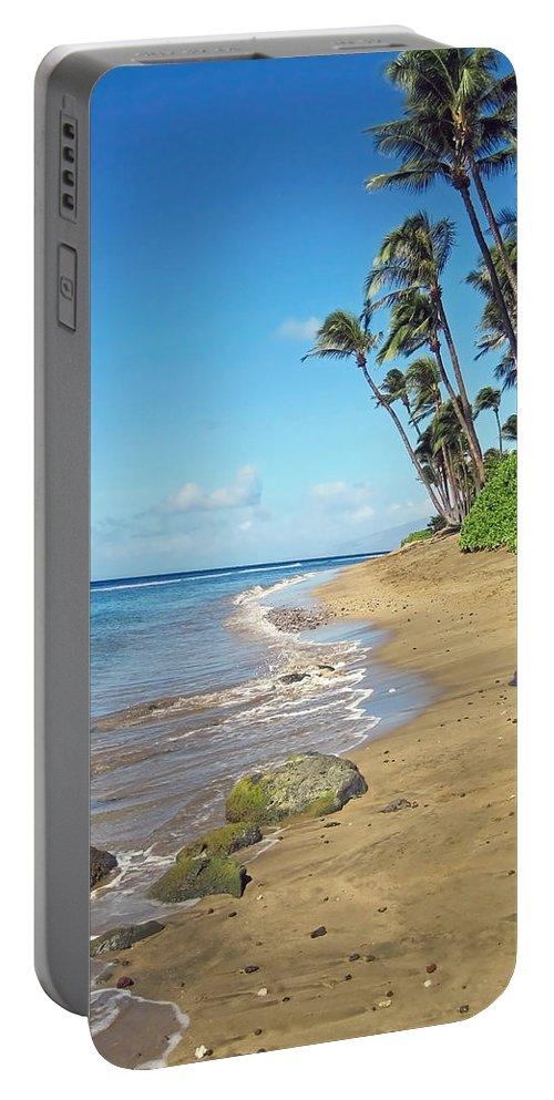 Beach Portable Battery Charger featuring the photograph Ka'anapali Beach by Shanna Hyatt
