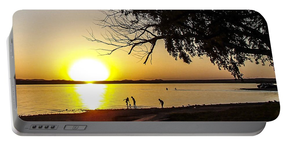 Lake Lawtonka Portable Battery Charger featuring the photograph Kaboom by Angus Hooper Iii