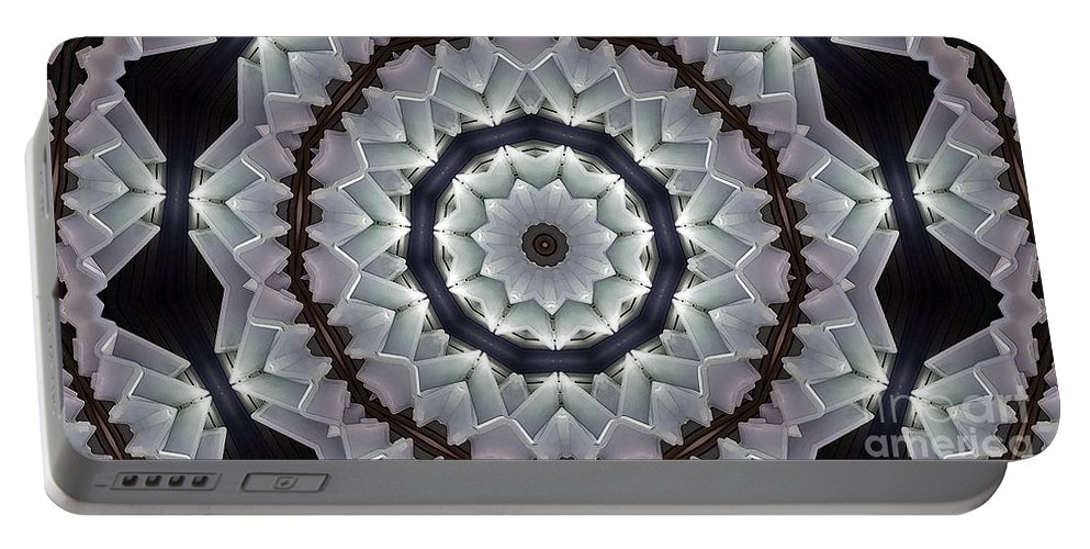 Kaleidoscope Portable Battery Charger featuring the photograph Kaleidoscope 63 by Ron Bissett
