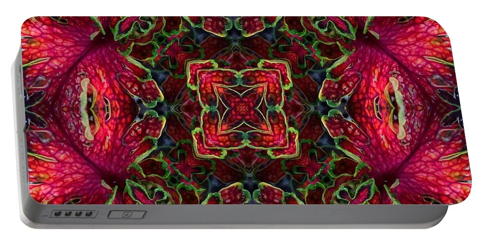 Coleus Portable Battery Charger featuring the photograph Kaleidscope Made From Image Of Coleus Plant by Amy Cicconi
