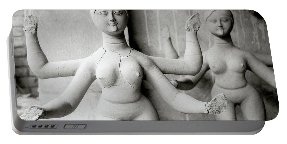 Woman Portable Battery Charger featuring the photograph Kali Show Your Tongue by Shaun Higson