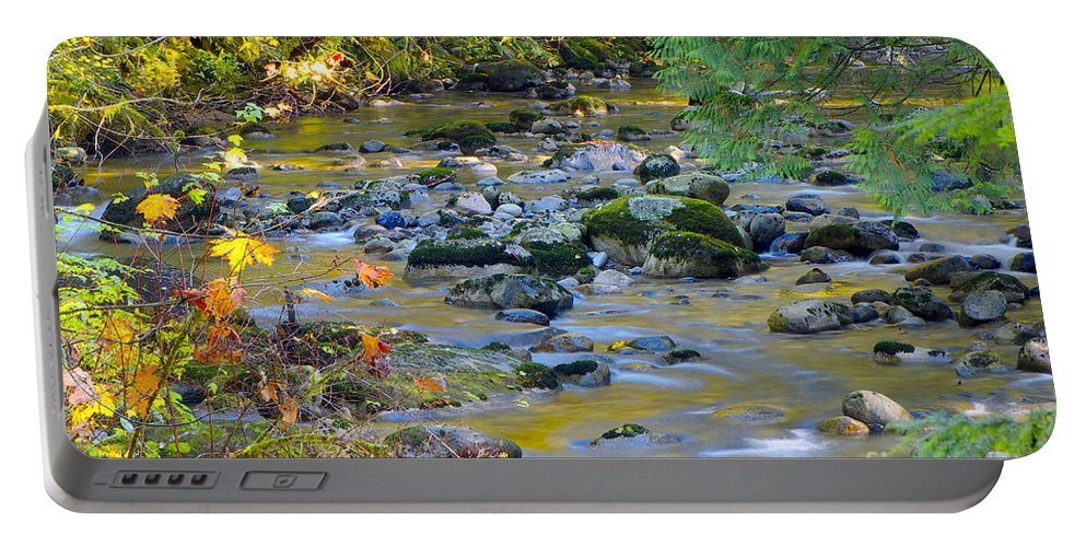 Kanaka Creek Portable Battery Charger featuring the photograph Kanaka Creek In The Fall by Sharon Talson