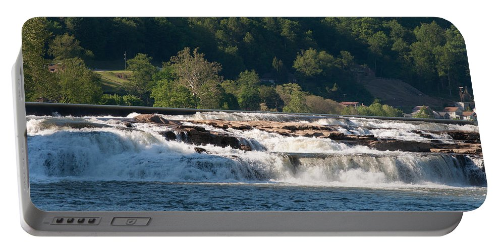 Interior Design Portable Battery Charger featuring the photograph Kanawah Falls I - Spring by Paulette B Wright