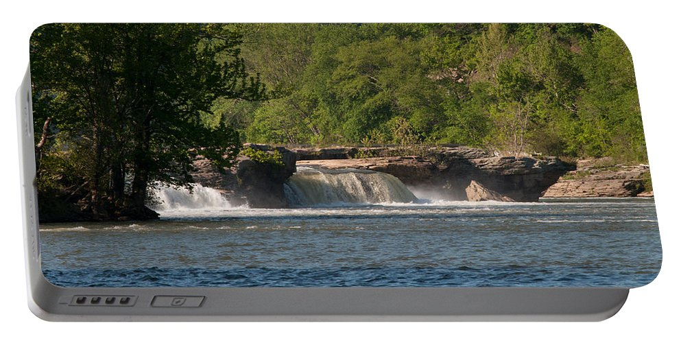 Interior Design Portable Battery Charger featuring the photograph Kanawha Falls II - Spring by Paulette B Wright
