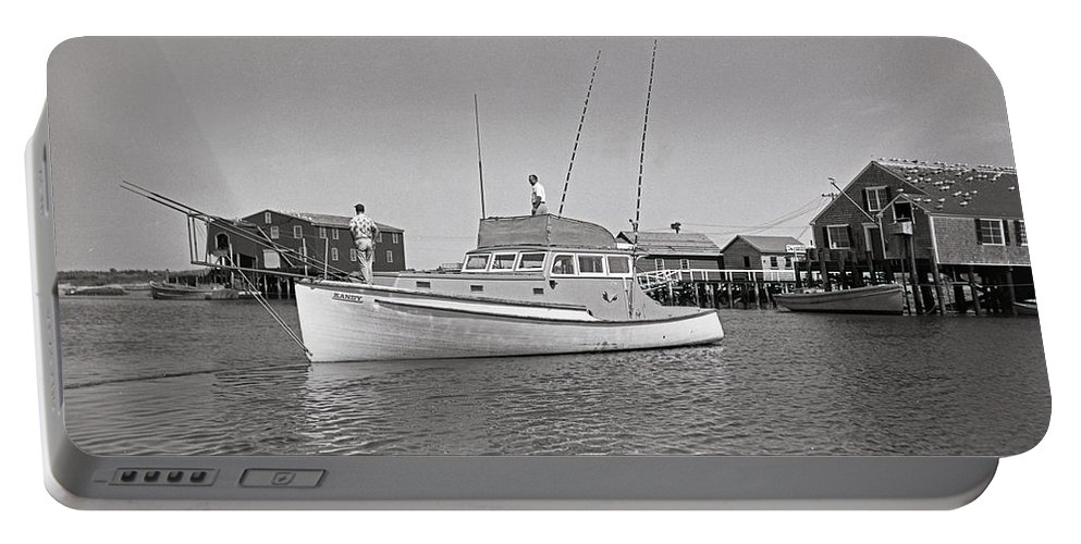 Tuna Portable Battery Charger featuring the photograph Kandy Of Barnstable Harbor 1950's by Unknown
