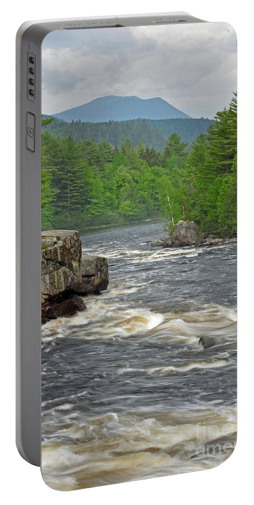 Crib Works Portable Battery Charger featuring the photograph Katahdin And Penobscot River by Glenn Gordon