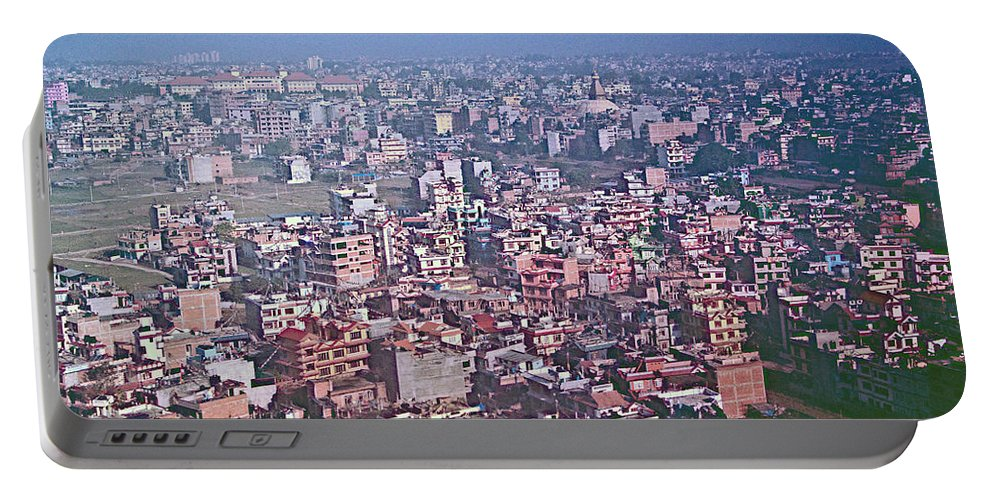 Kathmandu From The Airplane In Nepal Portable Battery Charger featuring the photograph Kathmandu From The Airplane-nepal by Ruth Hager