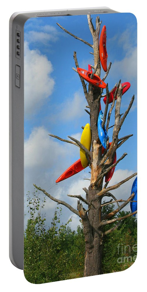 Kayaks Portable Battery Charger featuring the photograph Kayak Tree by Erika Weber