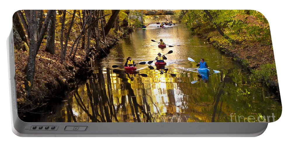 Kayak Portable Battery Charger featuring the photograph Kayaking 2 by Mike Nellums