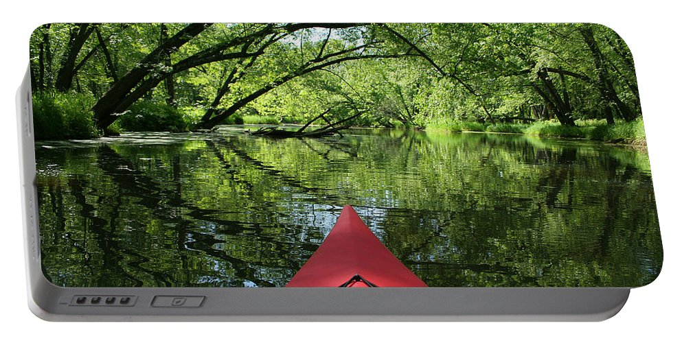 Activity Portable Battery Charger featuring the photograph Kayaking Backwater Mississippi 1 by John Brueske
