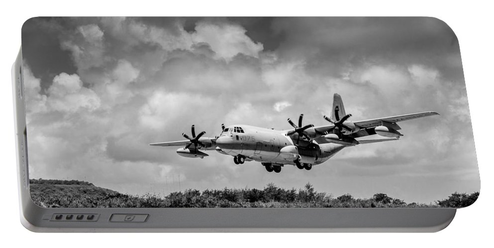 Kc-130 Portable Battery Charger featuring the photograph Kc-130 Approach by Alex Snay