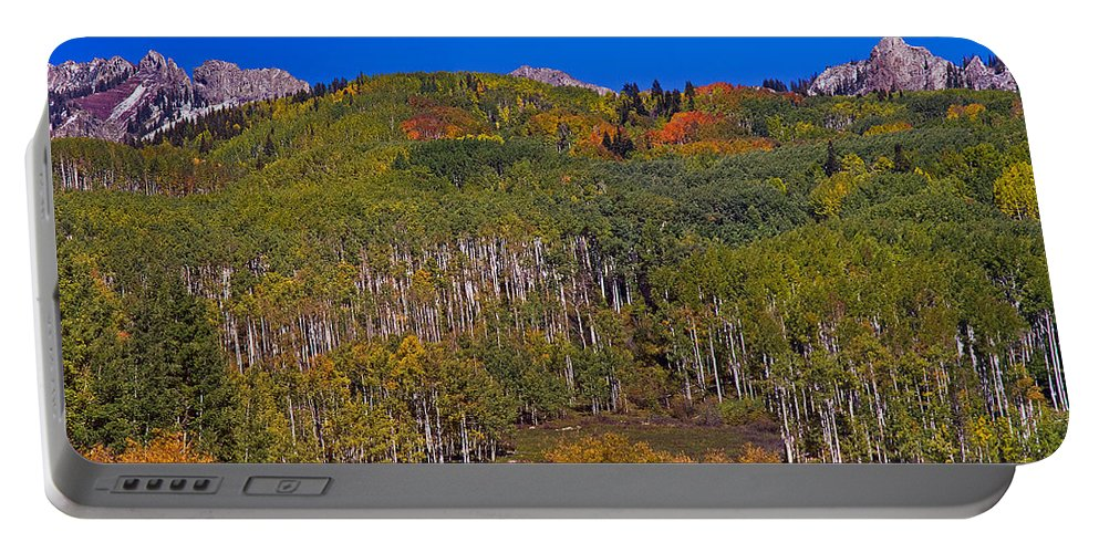 Aspens Portable Battery Charger featuring the photograph Kebler Pass Panorama by Brian Kerls