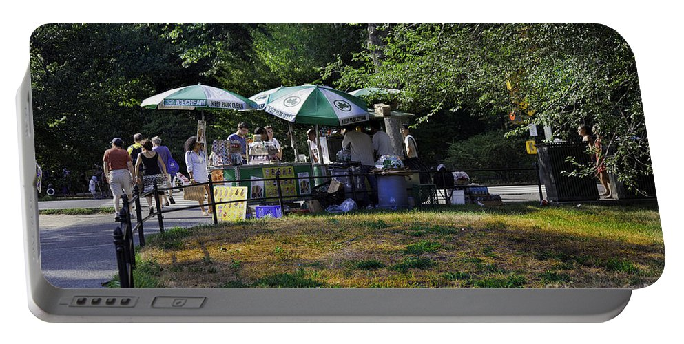 Central Park Portable Battery Charger featuring the photograph Keep Park Clean by Madeline Ellis
