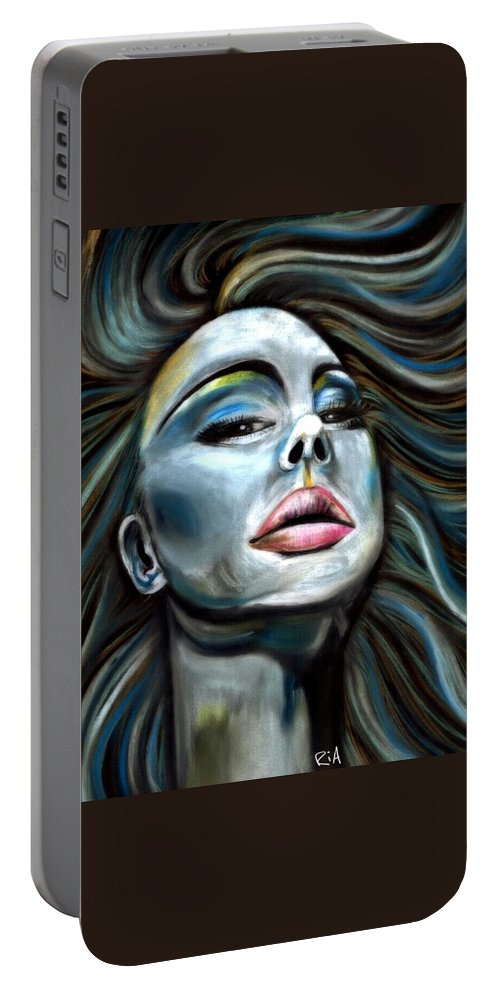 Beautiful Portable Battery Charger featuring the photograph Keep ya Head Up by Artist RiA