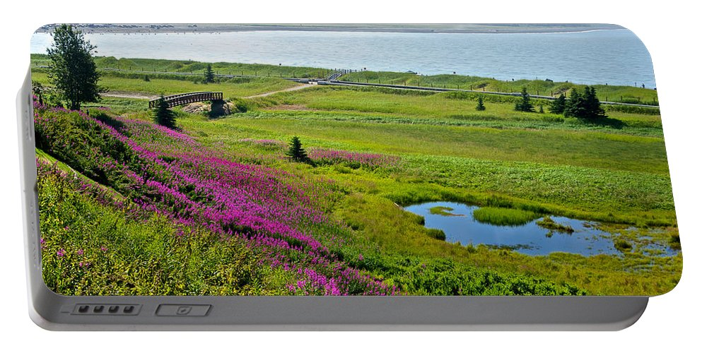Kenai River Outlet On The Cook Inlet In Kenai Portable Battery Charger featuring the photograph Kenai River Outlet On The Cook Inlet In Kenai-ak by Ruth Hager