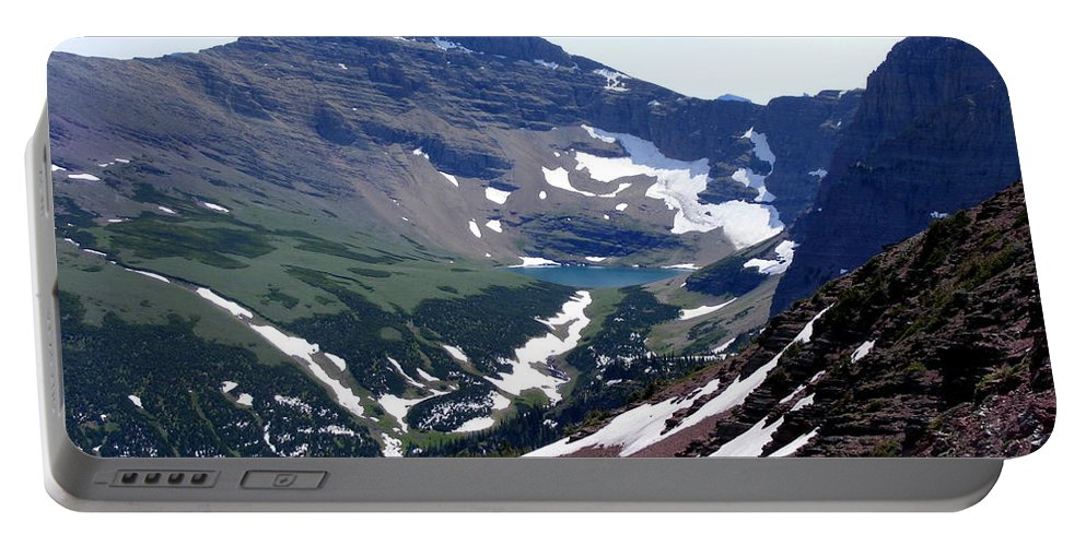Mountain Portable Battery Charger featuring the photograph Kennedy Lake by Mark Hudon