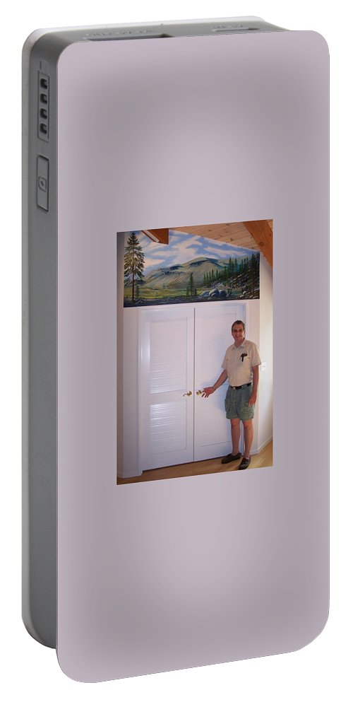Mural Portable Battery Charger featuring the painting Kennedy Meadows Mural by Frank Wilson
