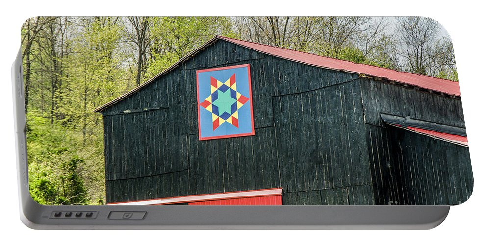 Architecture Portable Battery Charger featuring the photograph Kentucky Barn Quilt - 2 by Mary Carol Story
