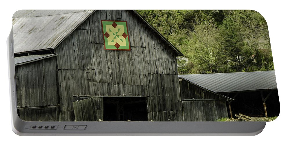 Architecture Portable Battery Charger featuring the photograph Kentucky Barn Quilt - 3 by Mary Carol Story