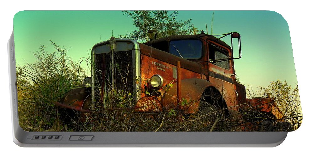Wallpaper Buy Art Print Phone Case T-shirt Beautiful Duvet Case Pillow Tote Bags Shower Curtain Greeting Cards Mobile Phone Apple Android Nature Old American Portable Battery Charger featuring the photograph Kenworth 3 by Salman Ravish