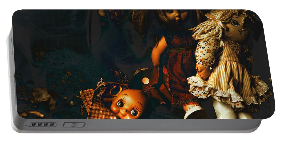 Kewpie Portable Battery Charger featuring the photograph Kewpie's Bad Dream by Wayne Sherriff