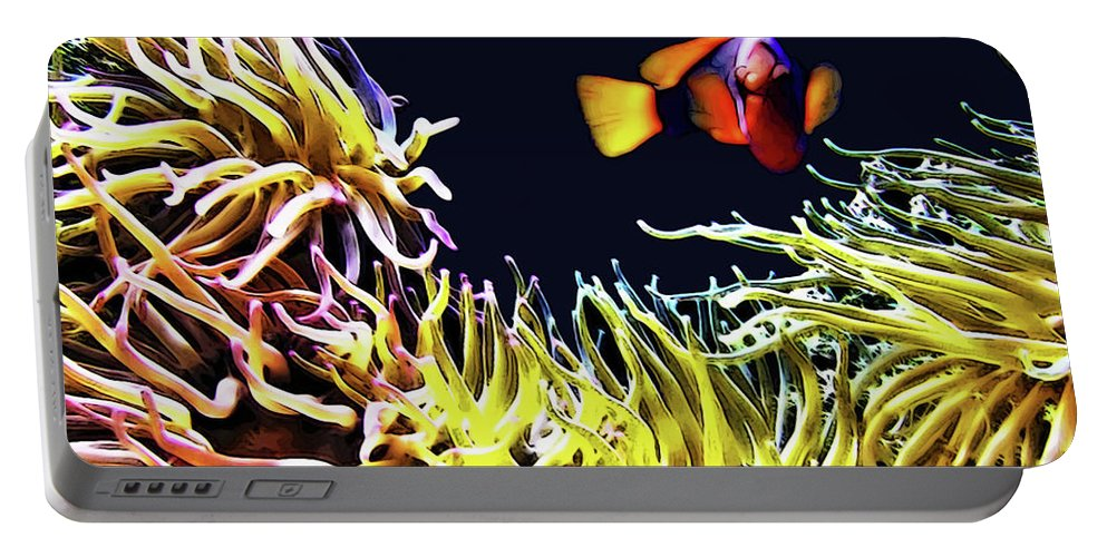 Fish Portable Battery Charger featuring the digital art Key West Fish by Joan Minchak