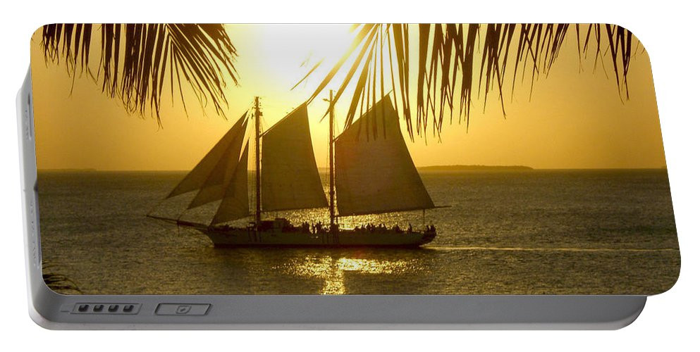Key West Portable Battery Charger featuring the photograph Key West Sunset by Joan Minchak